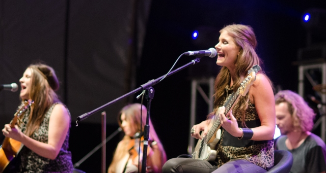 The McClymonts on stage at Tamworth