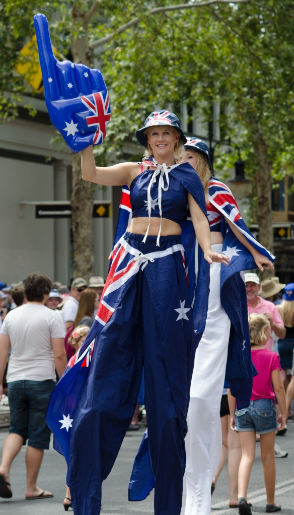 Can you tell it was Australia Day ?