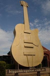 The symbol of Tamworth, the Golden Guitar
