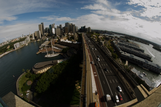 Sydney from the Harbour Bridge pylon lookout