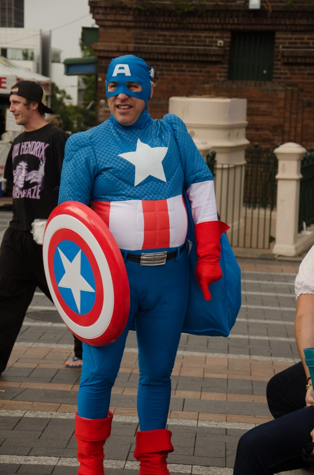 One of the spectators who dressed up for the event