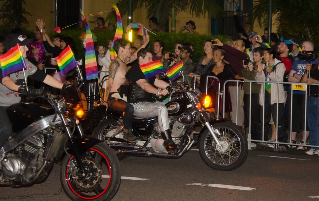 """The """"Dykes on bikes"""" always open the parade"""