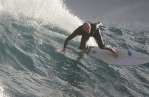 Surfing Jakes Point