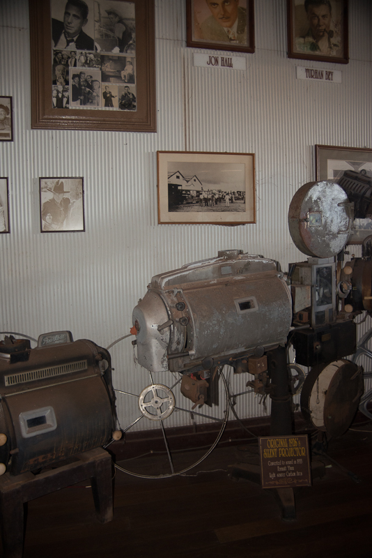 Old movie equipment from the silent era