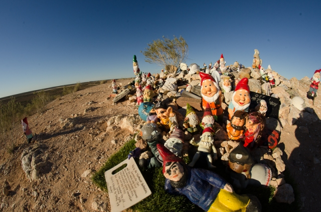 Gnomes left by travellers over the years