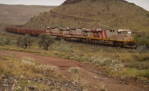 Iron ore train, well some of it ...it's 2.5km long!
