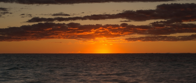 There is nothing like a sunset over the ocean, is there ?