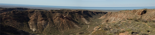 Panorama of Charles Knife canyon, Exmouth