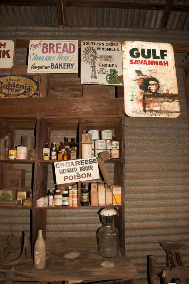 Inside the general store, Croydon