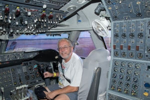 me in the 747 cockpit