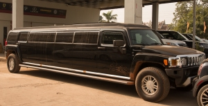 Stretched limo, Vientiane car yard