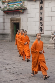 Novice monks, Wat Mangkorn