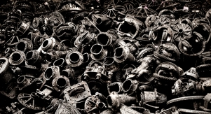 Old gearboxes and differentials ...the scrap metal street (Songwat Road)
