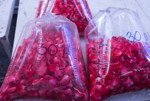 A bag of rose petals for around $1