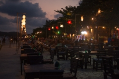Beach dining at dusk