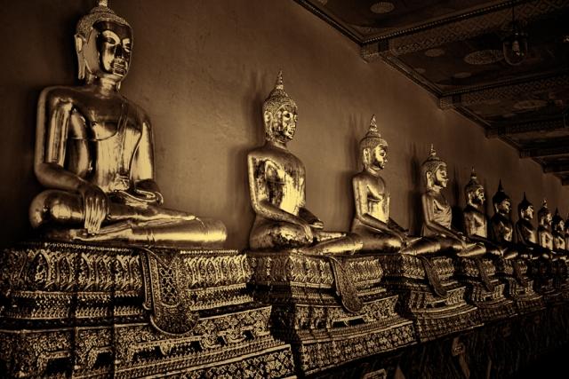 Buddhas, Wat Pho, Bangkok