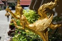 Golden street lamp