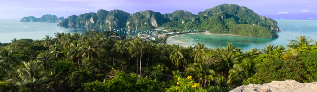 Phi Phi panorama from the viewpoint