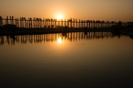 U-Bein bridge is a popular place for sunset.
