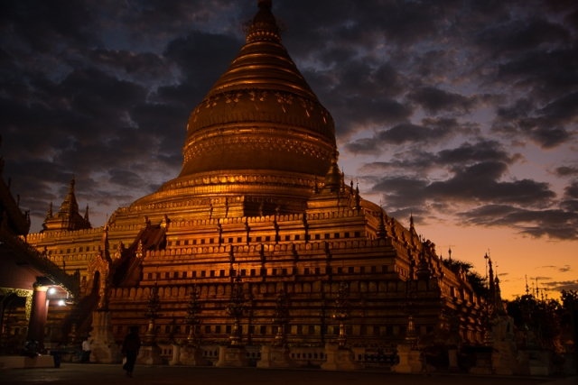 Shwezigon at sunset