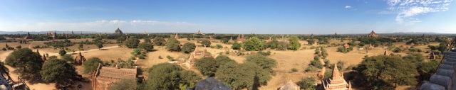 Panorama of just some of the temples of Bagan.