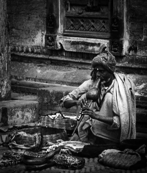 Snake charmer, Katmandhu, Nepal