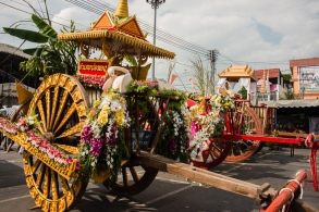 Decorated buffalo cart