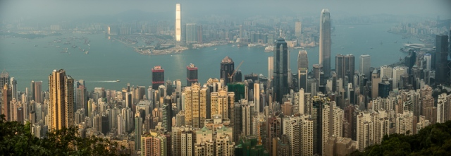 Panorama from The Peak, Hong Kong Island