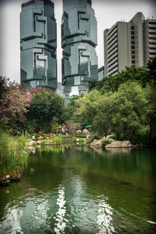 Lippo building from Hong Kong Park
