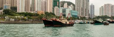Panorama, Aberdeen Harbour, Hong Kong Island