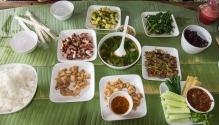 Burmese style lunch.