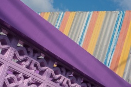 Colouful roof and wall !