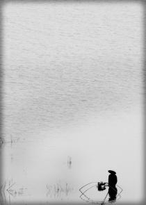 Fisherwoman, Mekong river