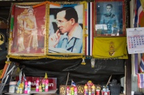 A shrine to the late King Bhumipol